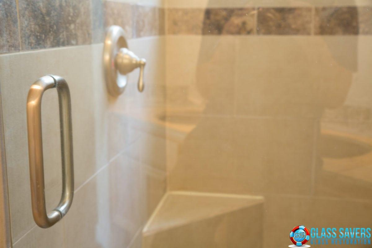 Scratched shower door repair San Marcos