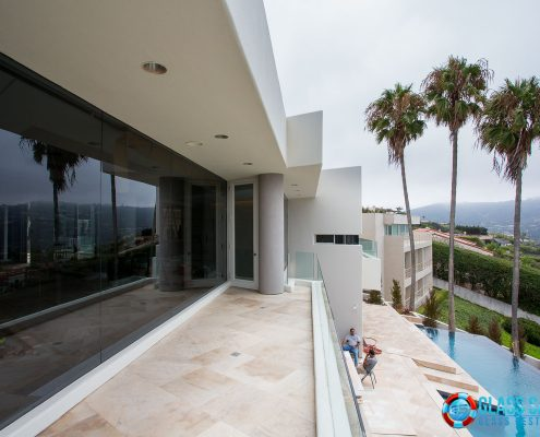 Glass Resurfacing at custom home in La Jolla