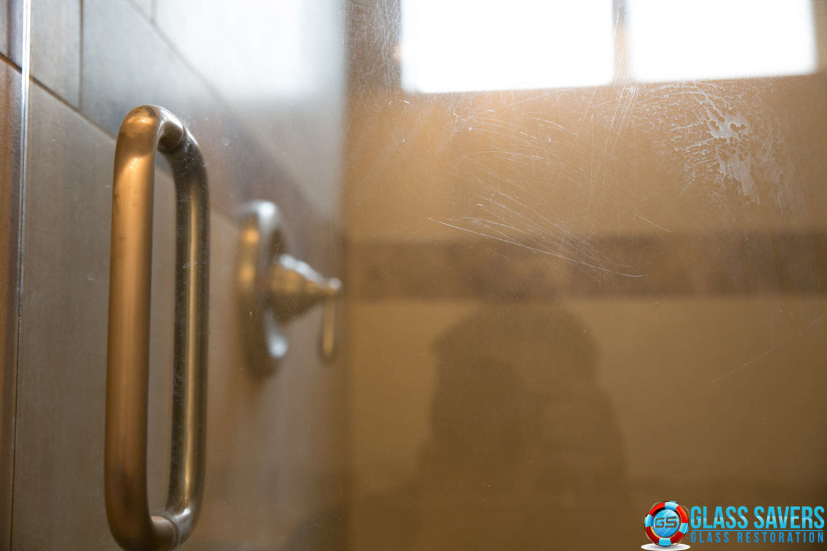Scratched Shower Door Repair Hard Water Stain Removal Gone Wrong
