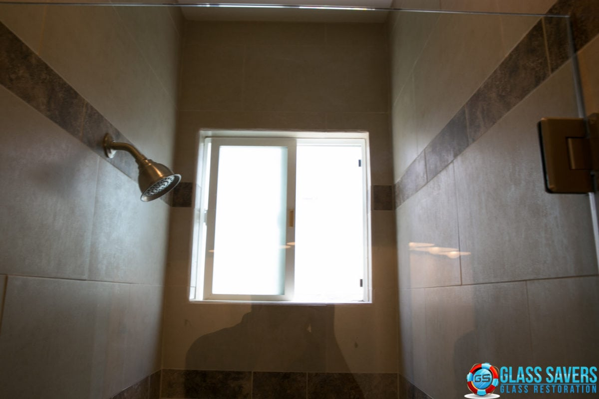 Scratched Shower Door repair (hard water stain removal gone wrong ...